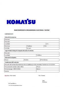 contrato mantenimiento carretillas komatsu